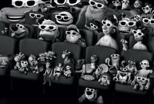 theater full of pixar characters